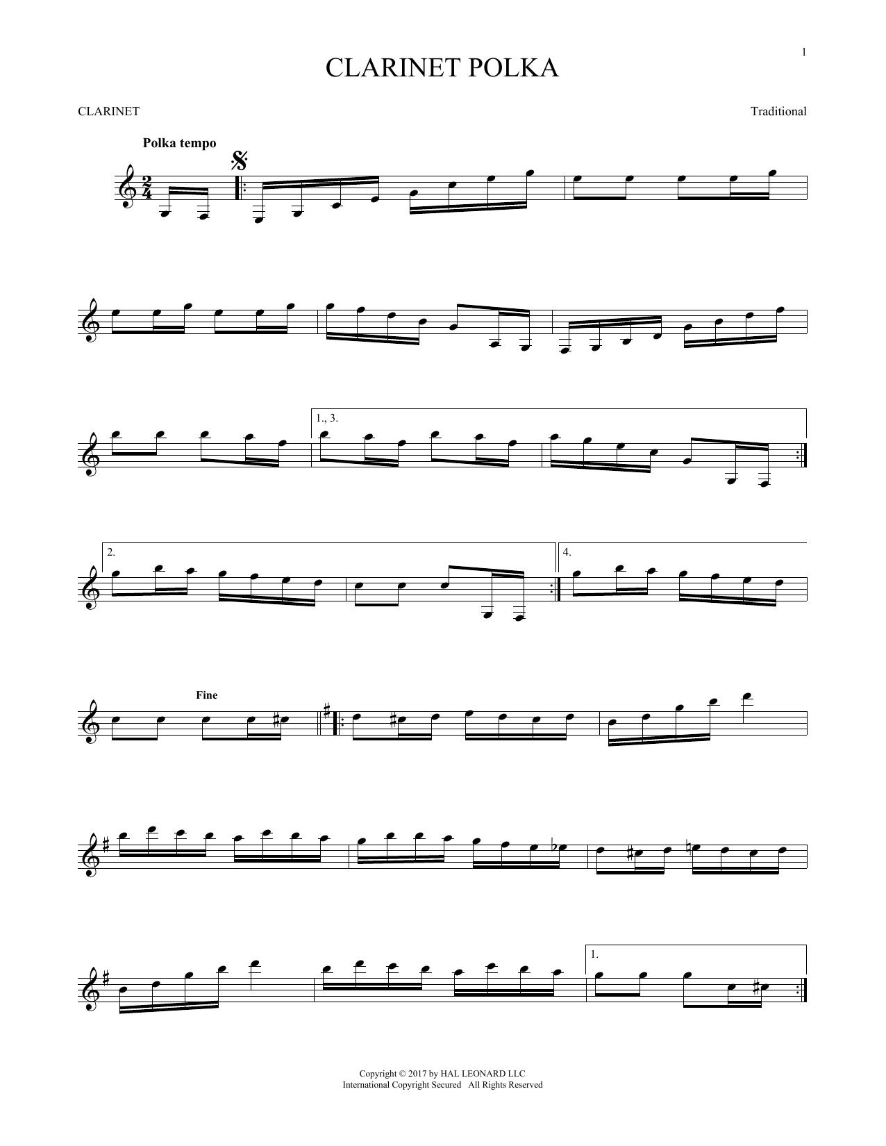 Clarinet Polka (Clarinet Solo)