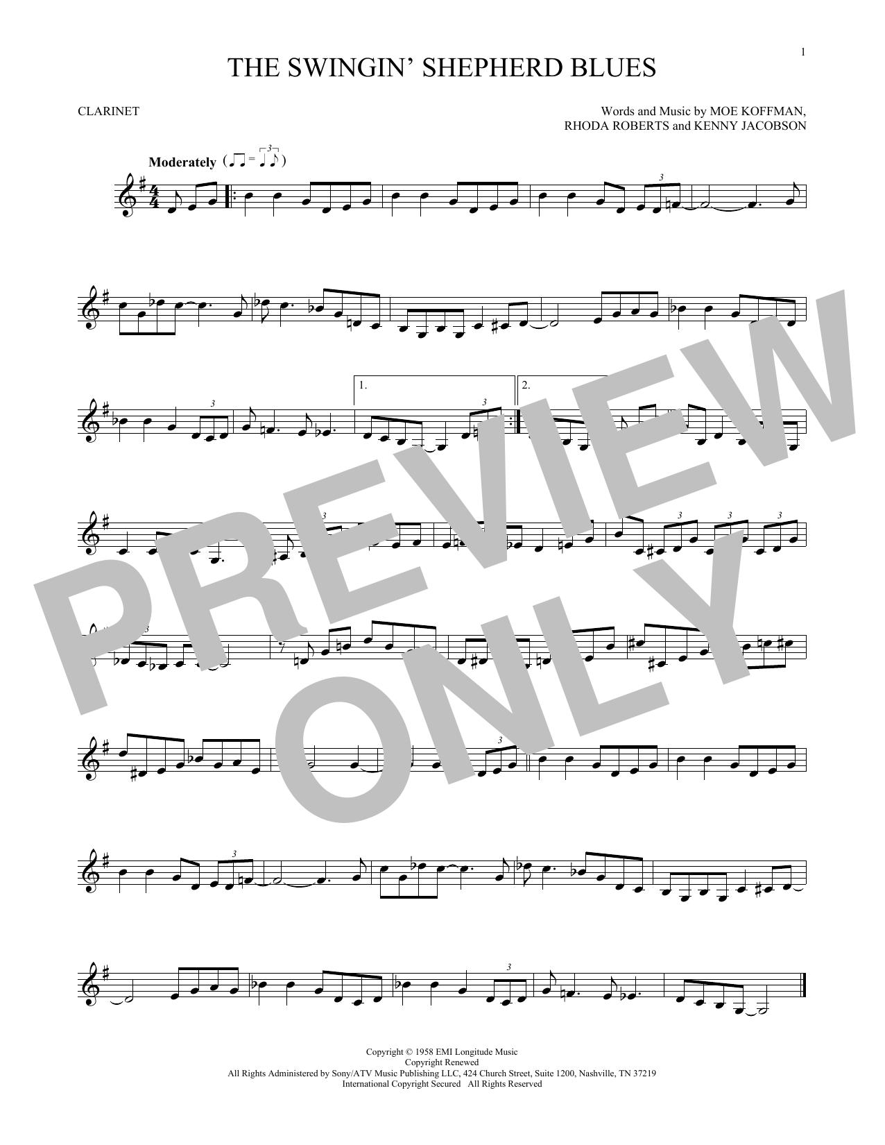 The Swingin' Shepherd Blues (Clarinet Solo)