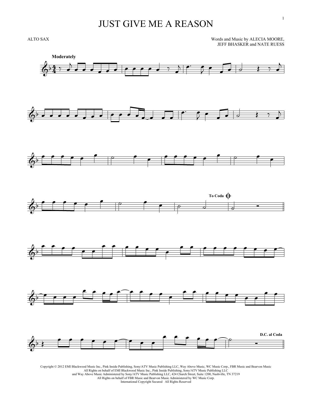 Just Give Me A Reason (Alto Sax Solo)