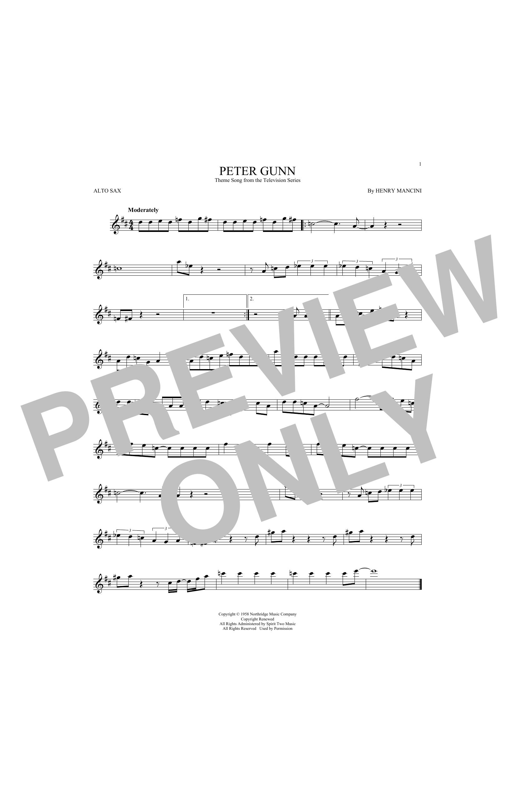 Peter Gunn (Alto Sax Solo)