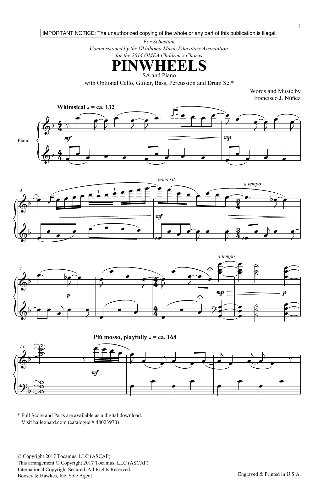 Pinwheels Sheet Music