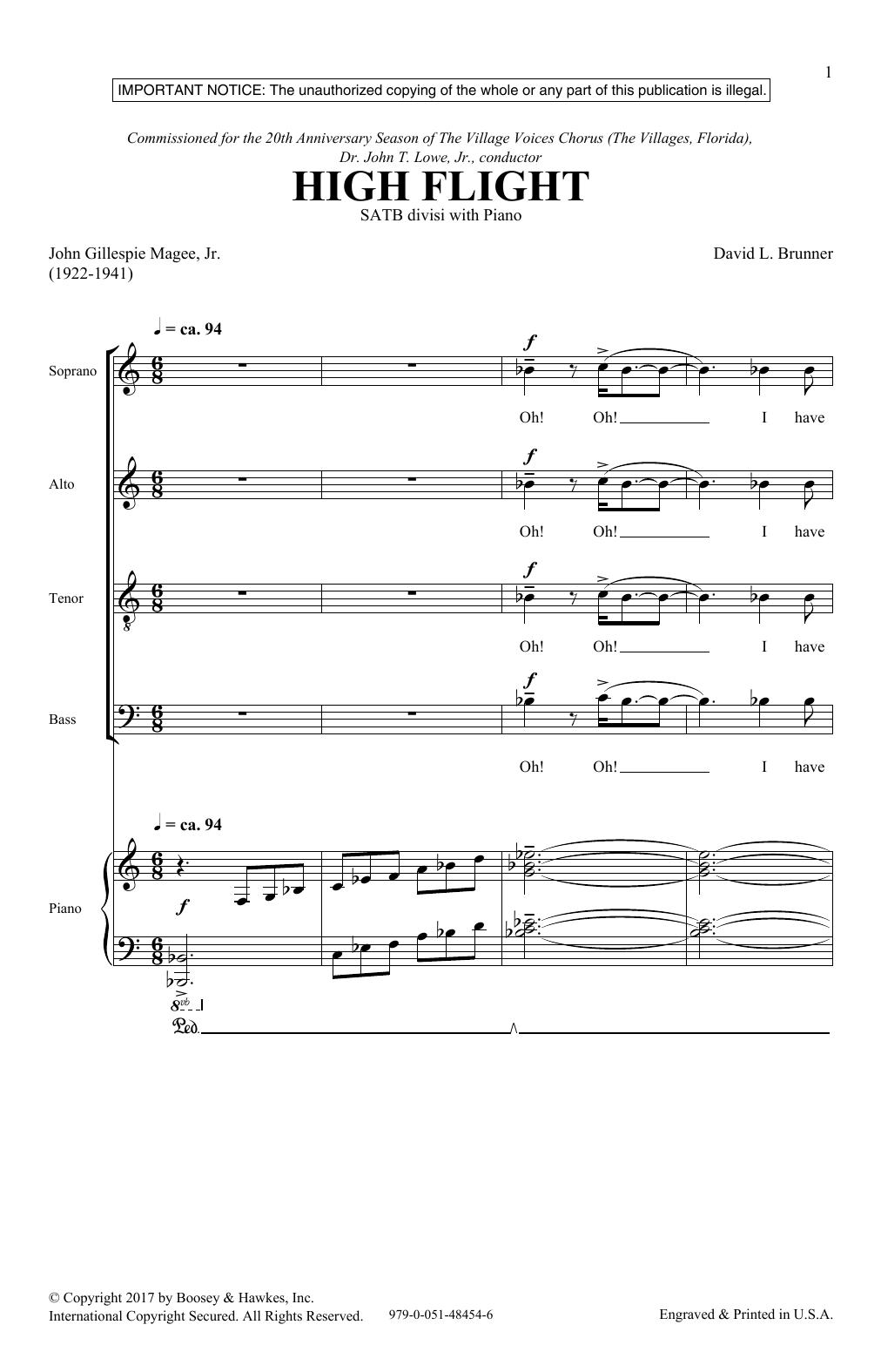 High Flight (SATB Choir)