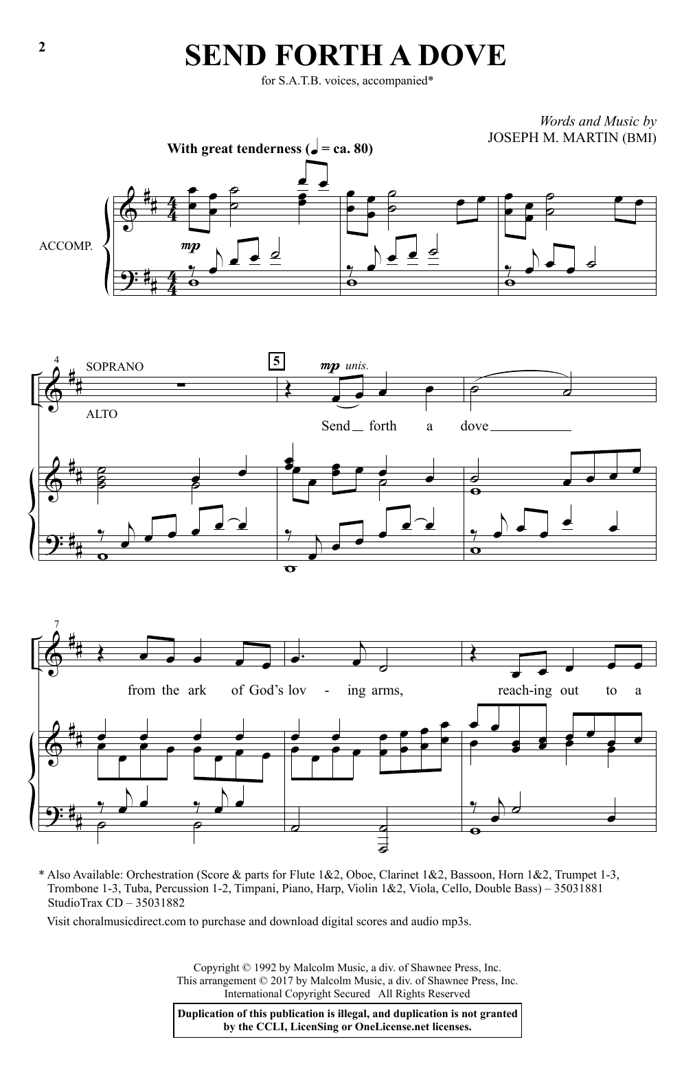 Send Forth A Dove Sheet Music