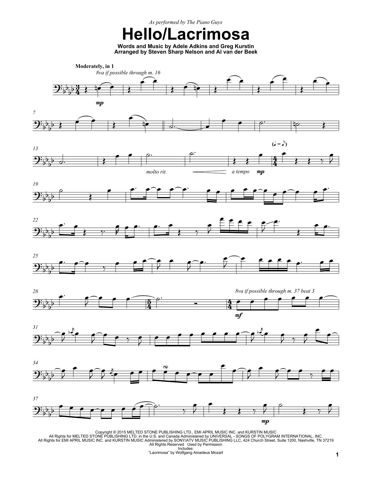 Hello/Lacrimosa (Cello Solo)
