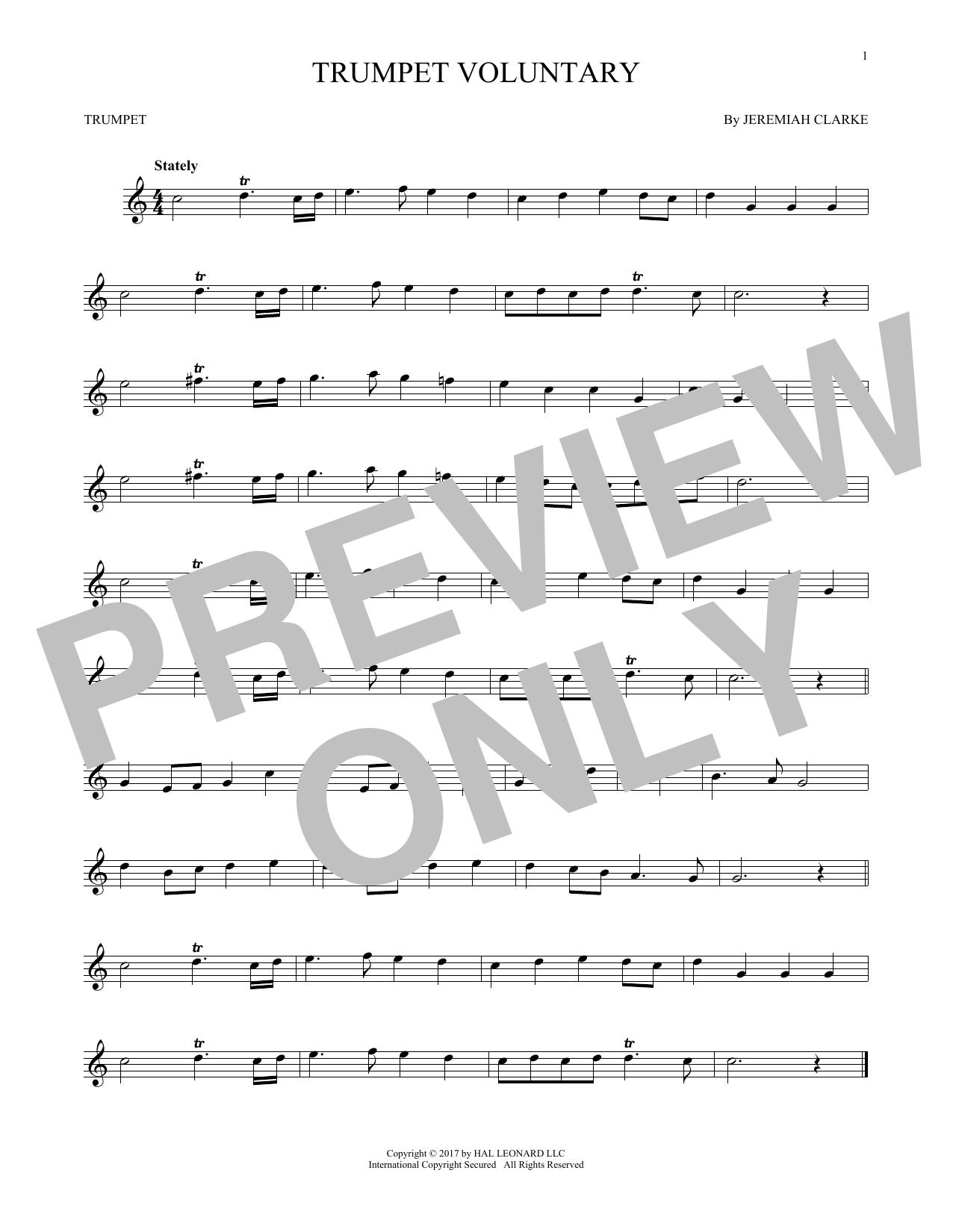 Trumpet Voluntary (Trumpet Solo)