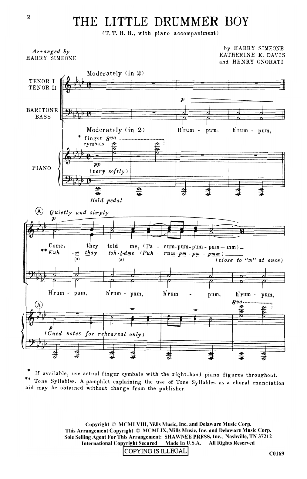 The Little Drummer Boy Sheet Music