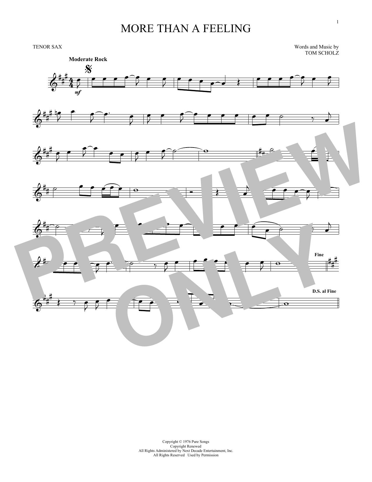 More Than A Feeling (Tenor Sax Solo)
