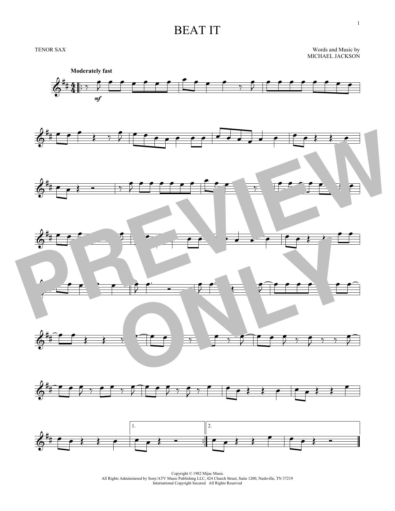 Beat It (Tenor Sax Solo)