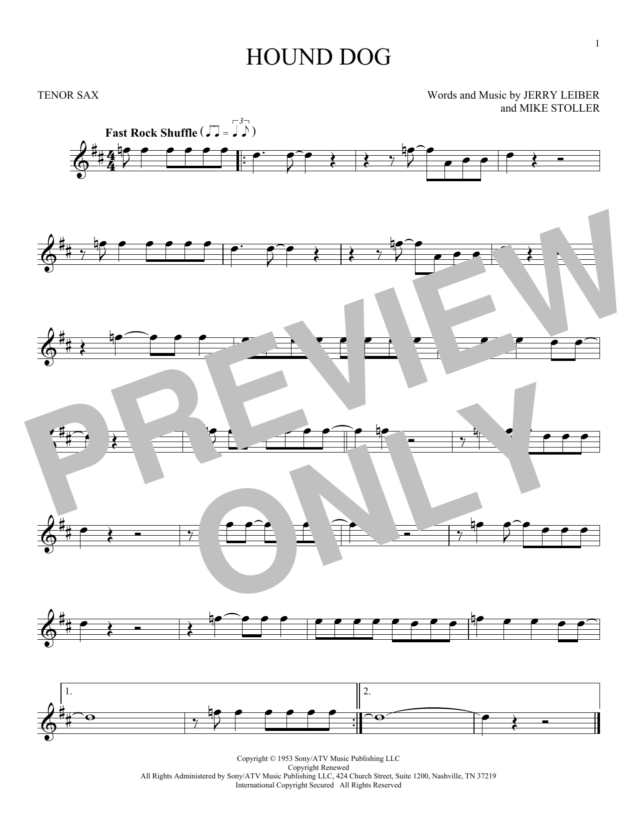 Hound Dog (Tenor Sax Solo)