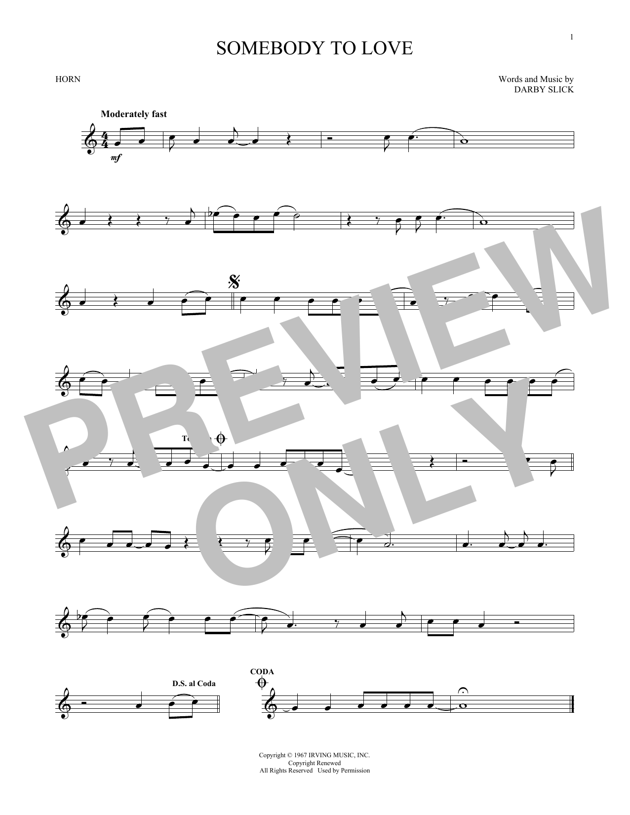 Somebody To Love (French Horn Solo)