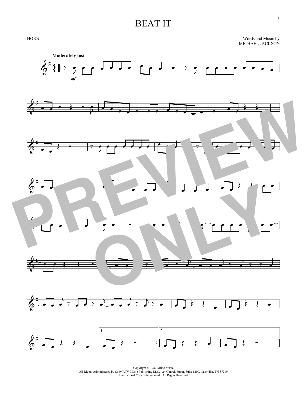 Beat It (French Horn Solo)
