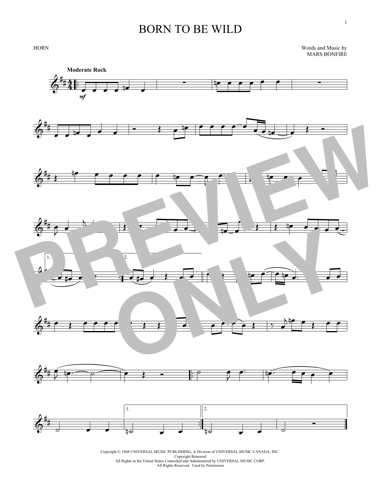 Born To Be Wild (French Horn Solo)