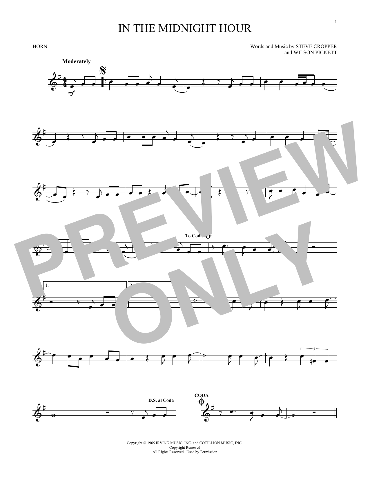 In The Midnight Hour (French Horn Solo)
