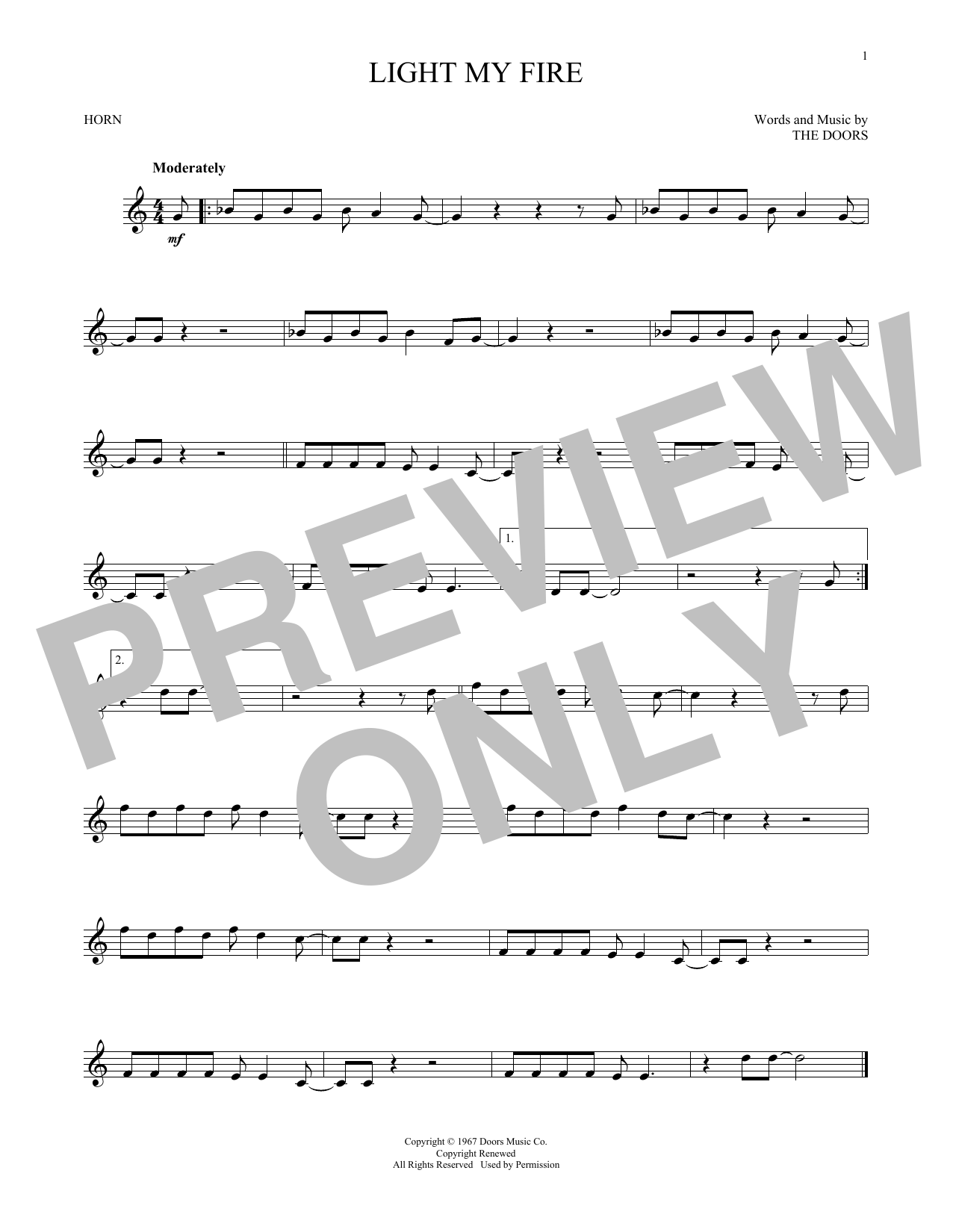 Light My Fire (French Horn Solo)
