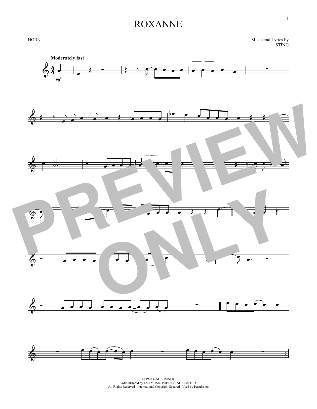 Roxanne (French Horn Solo)