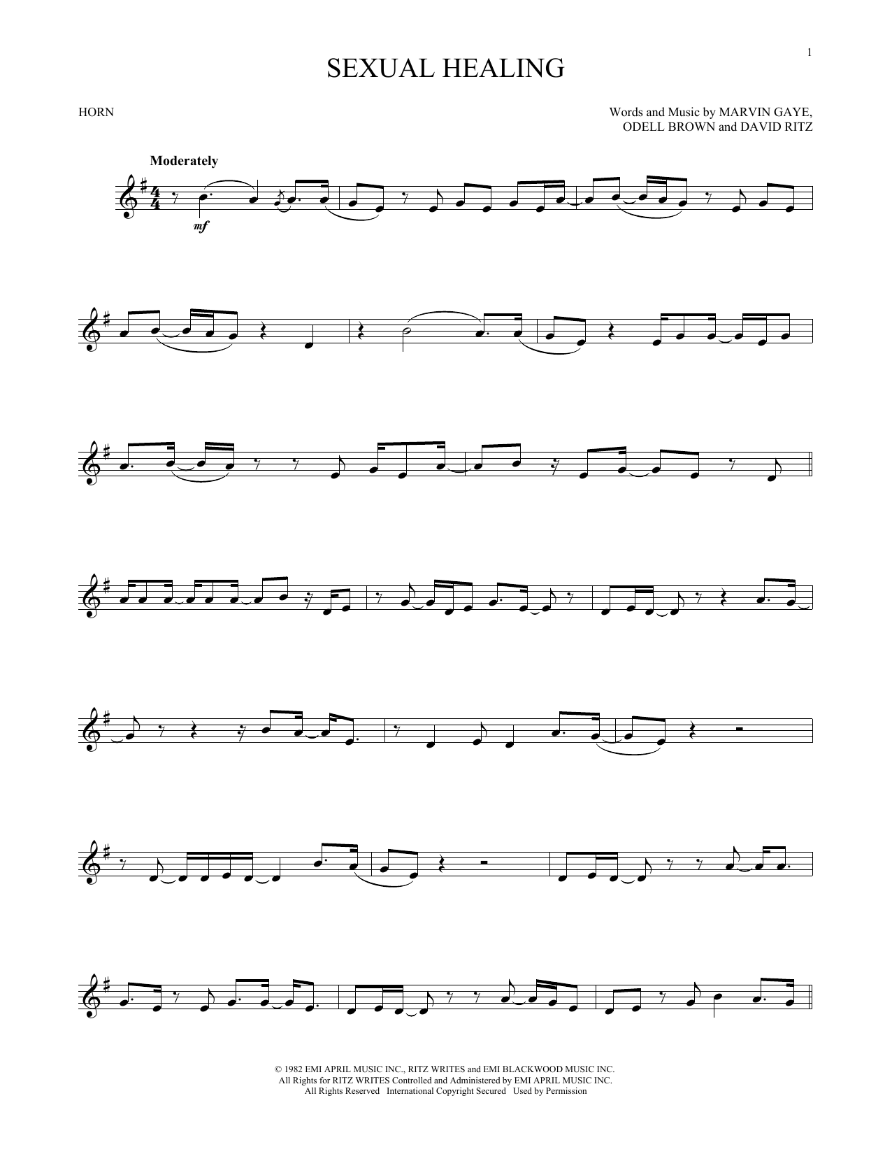 Sexual Healing (French Horn Solo)