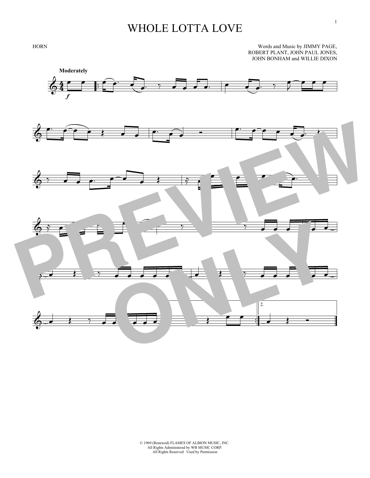 Whole Lotta Love (French Horn Solo)