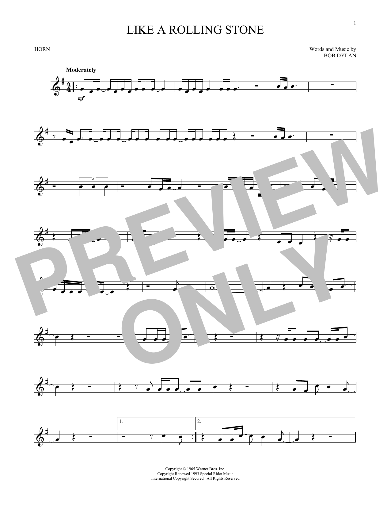 Like A Rolling Stone (French Horn Solo)