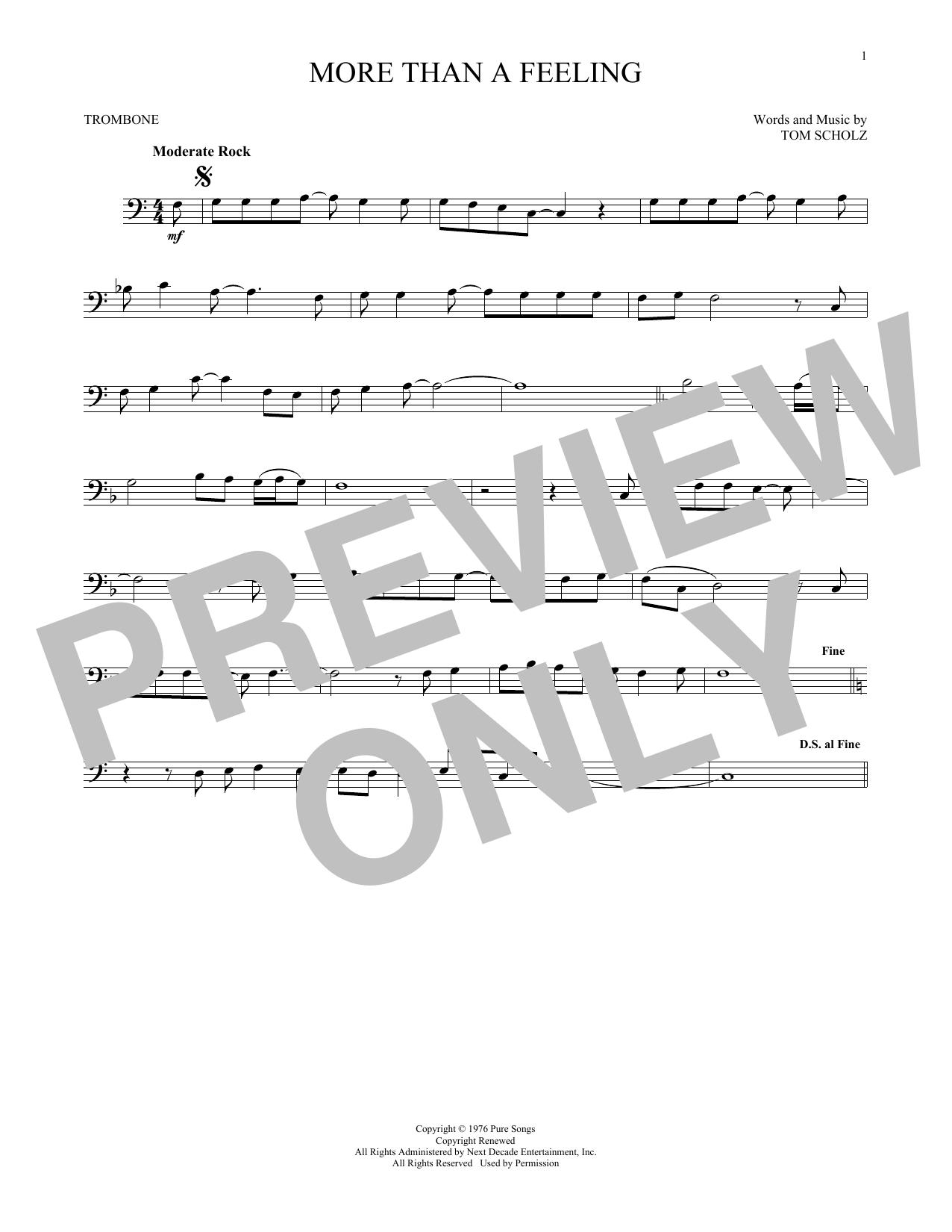 More Than A Feeling (Trombone Solo)