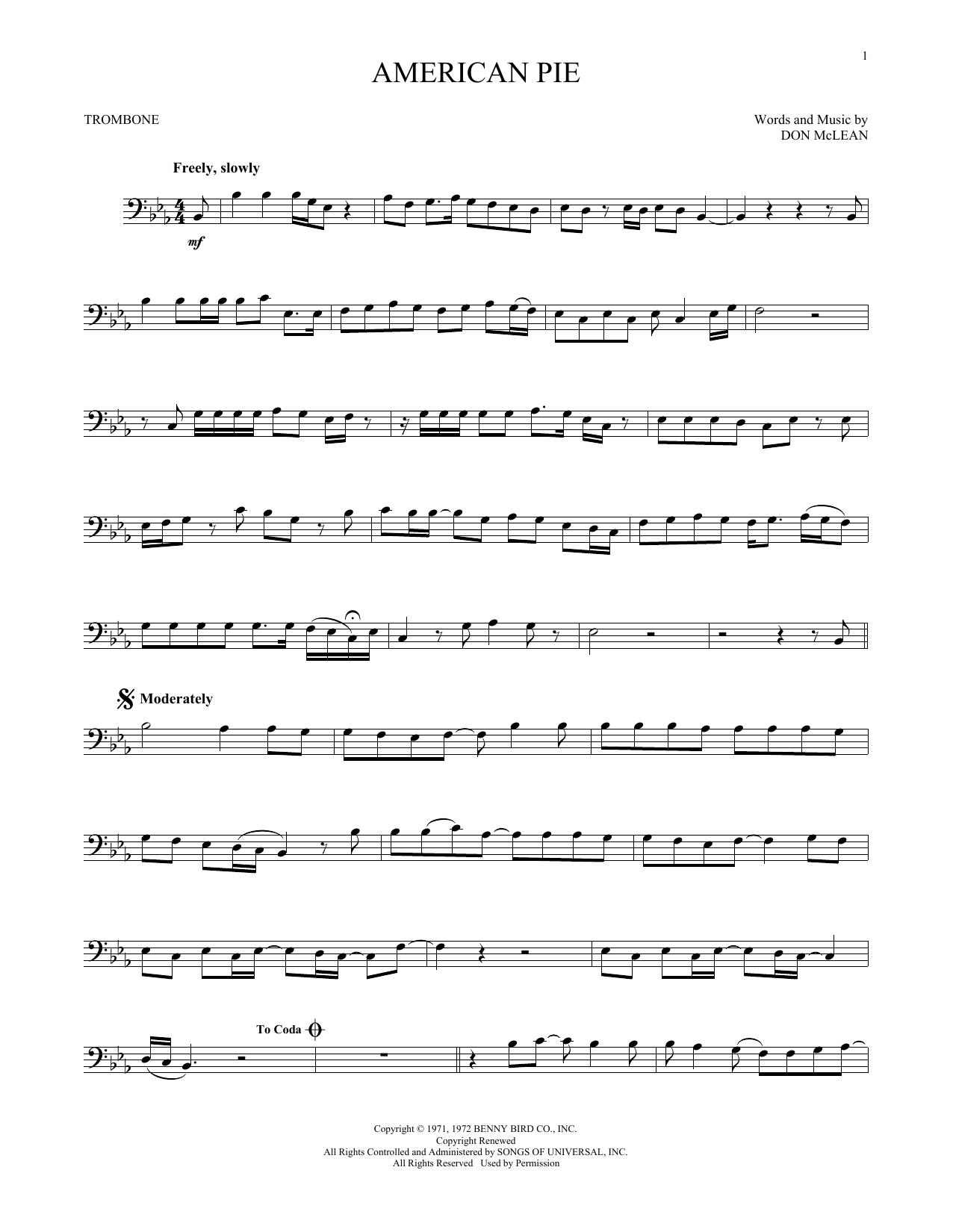 American Pie (Trombone Solo)