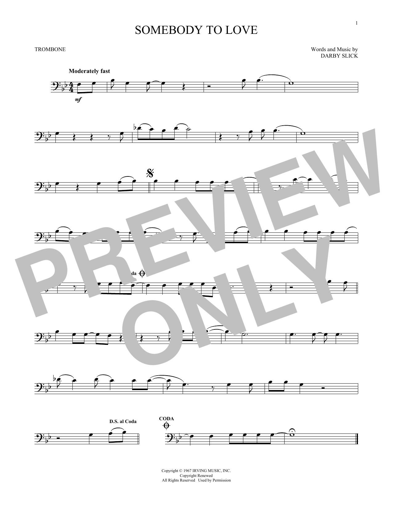 Somebody To Love (Trombone Solo)
