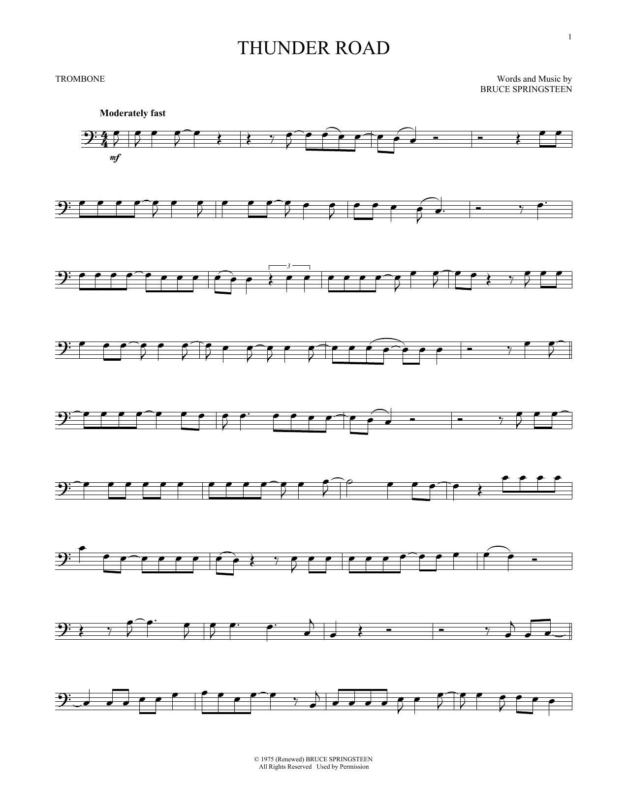 Thunder Road (Trombone Solo)