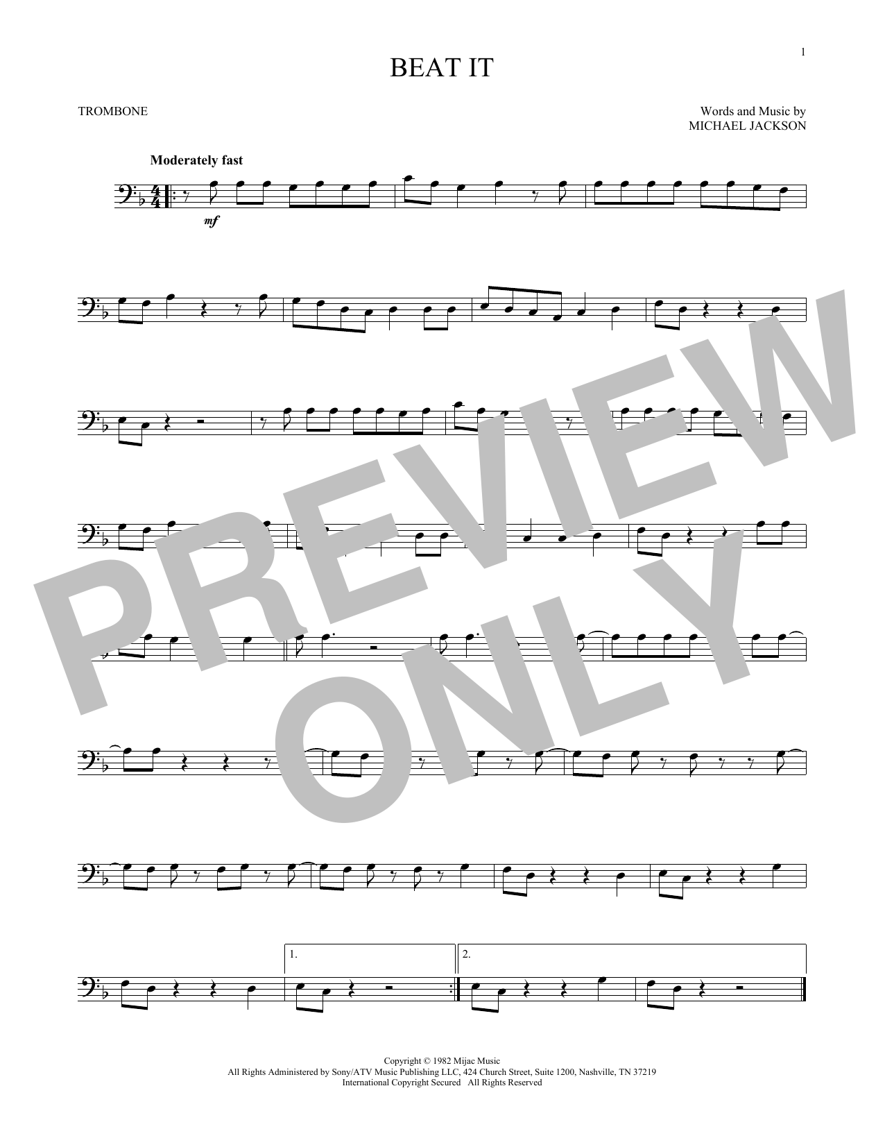 Beat It (Trombone Solo)