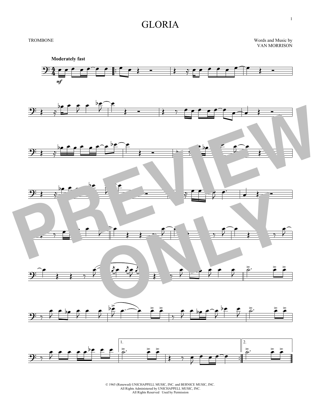 Gloria (Trombone Solo)