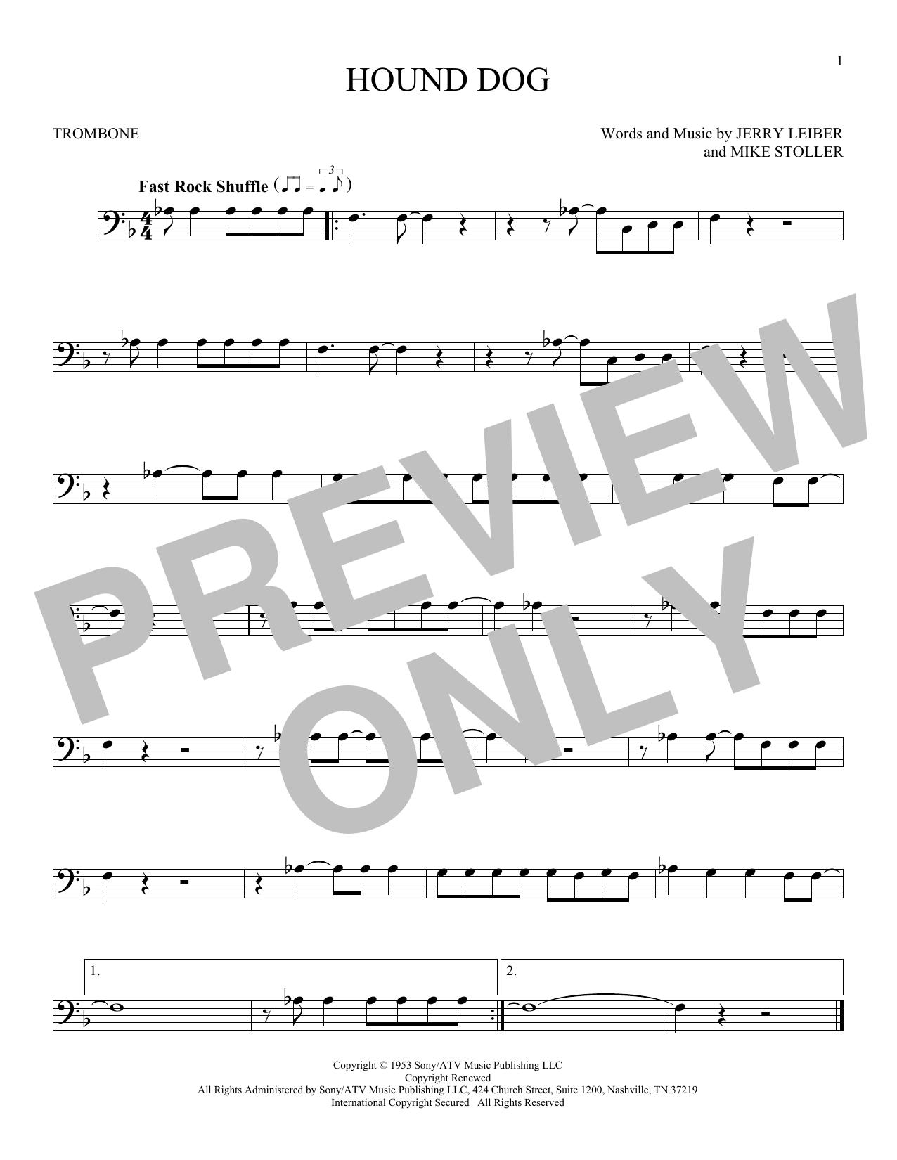 Hound Dog (Trombone Solo)