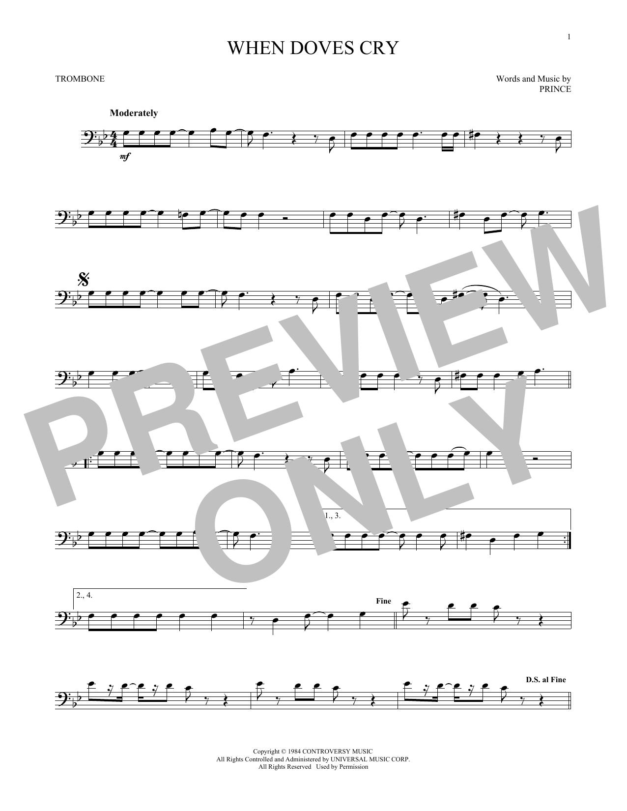 When Doves Cry (Trombone Solo)