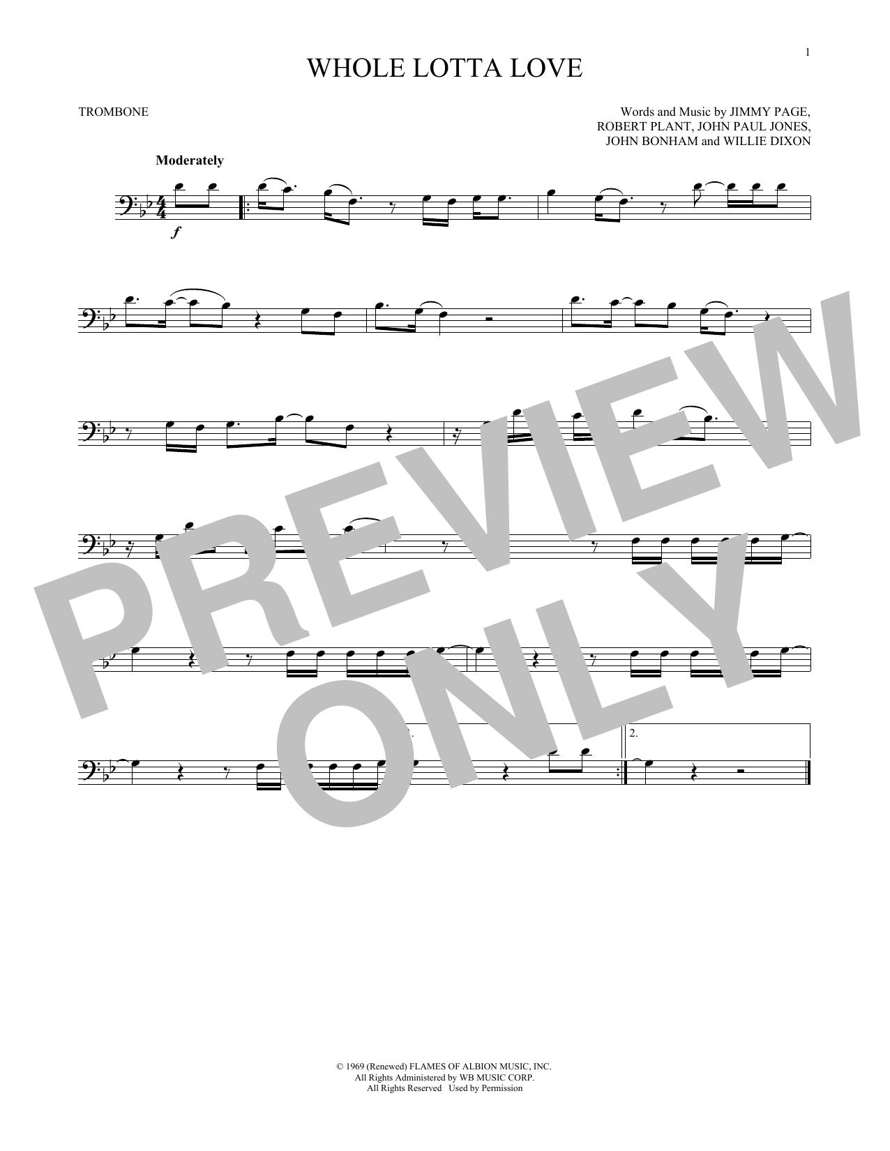 Whole Lotta Love (Trombone Solo)