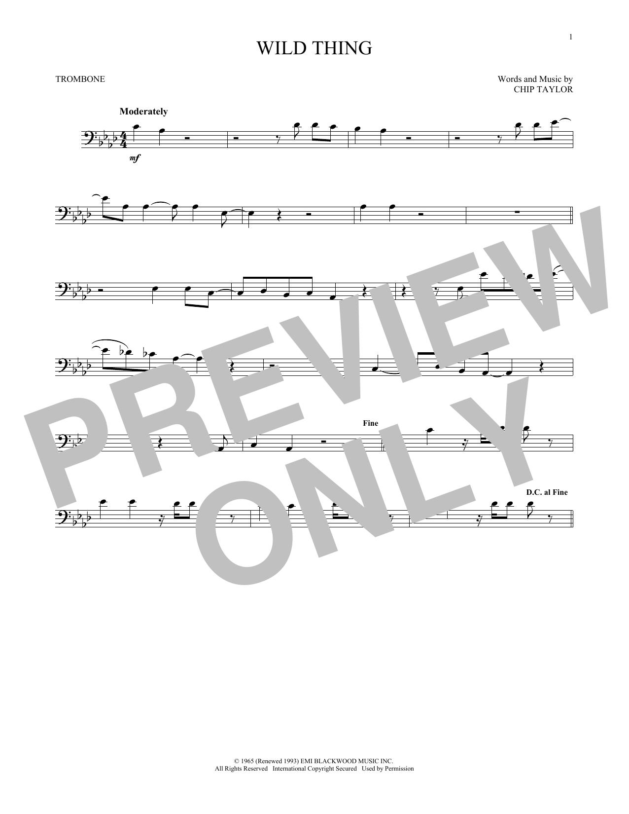 Wild Thing (Trombone Solo)