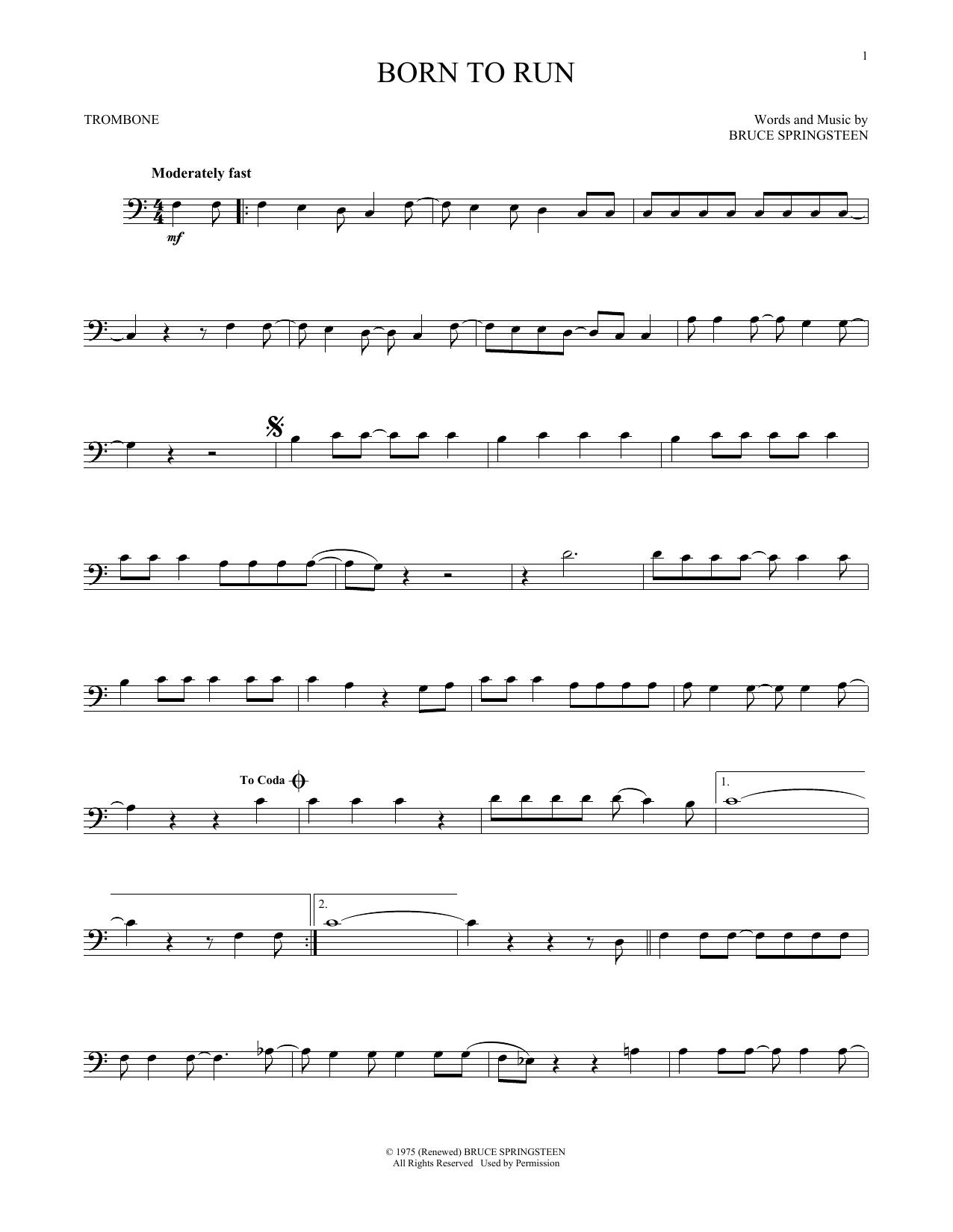 Born To Run (Trombone Solo)
