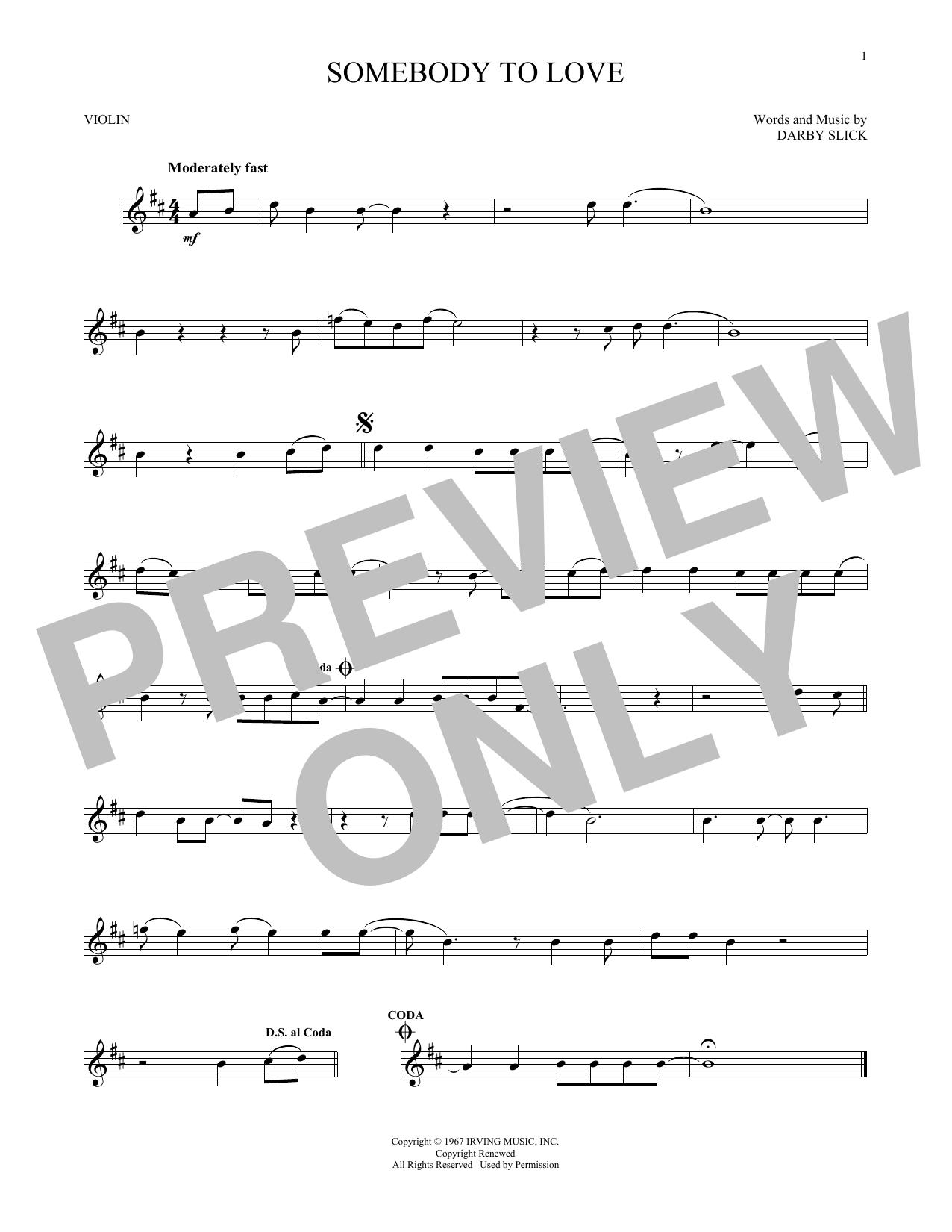 Somebody To Love (Violin Solo)