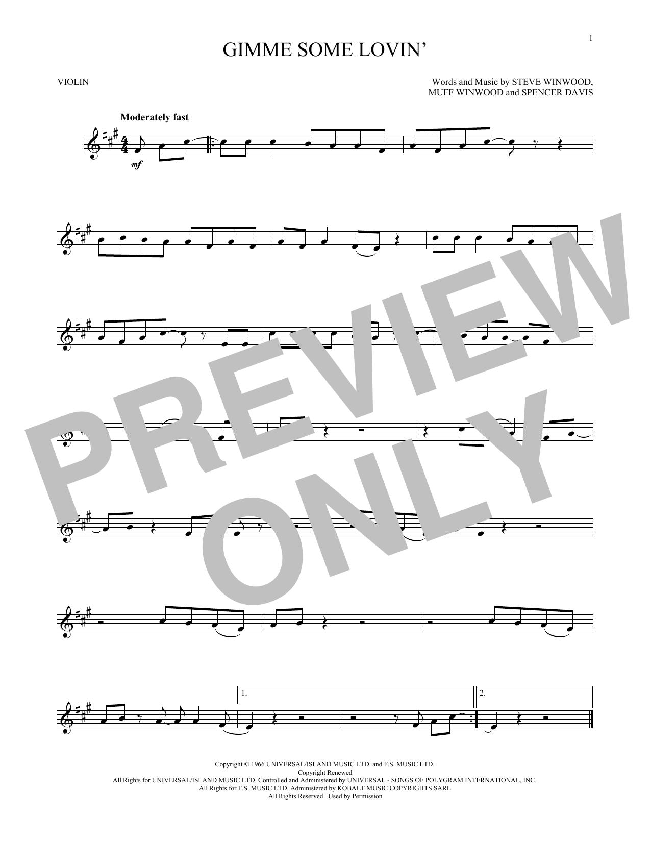 Gimme Some Lovin' (Violin Solo)