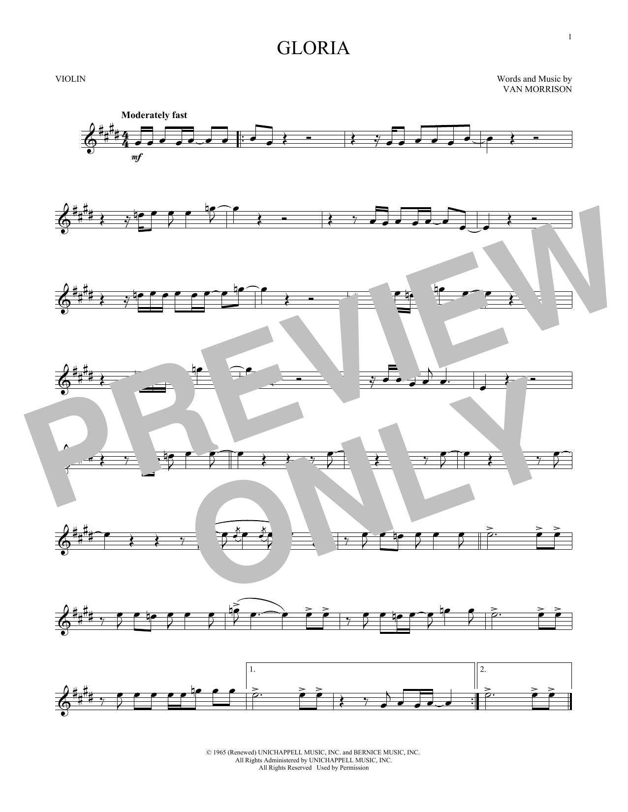 Gloria (Violin Solo)