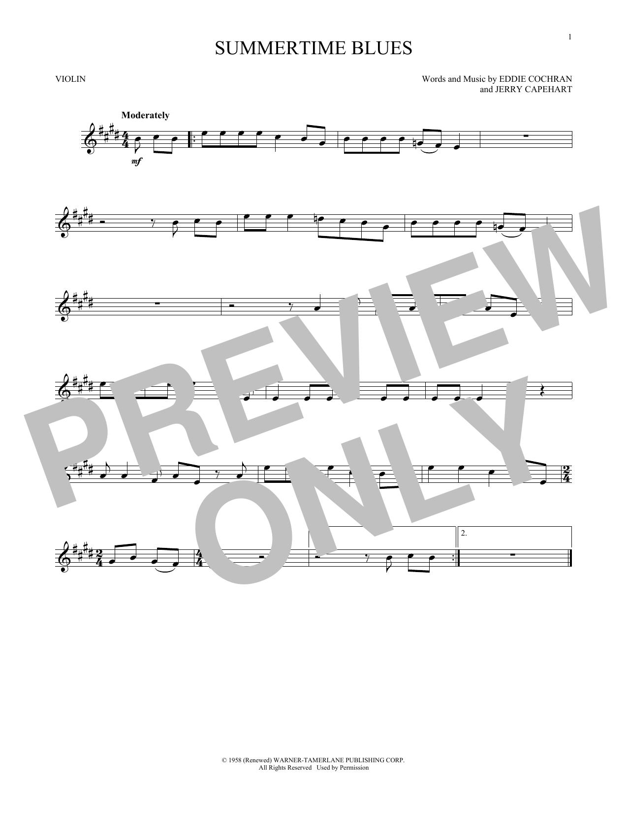 Summertime Blues (Violin Solo)