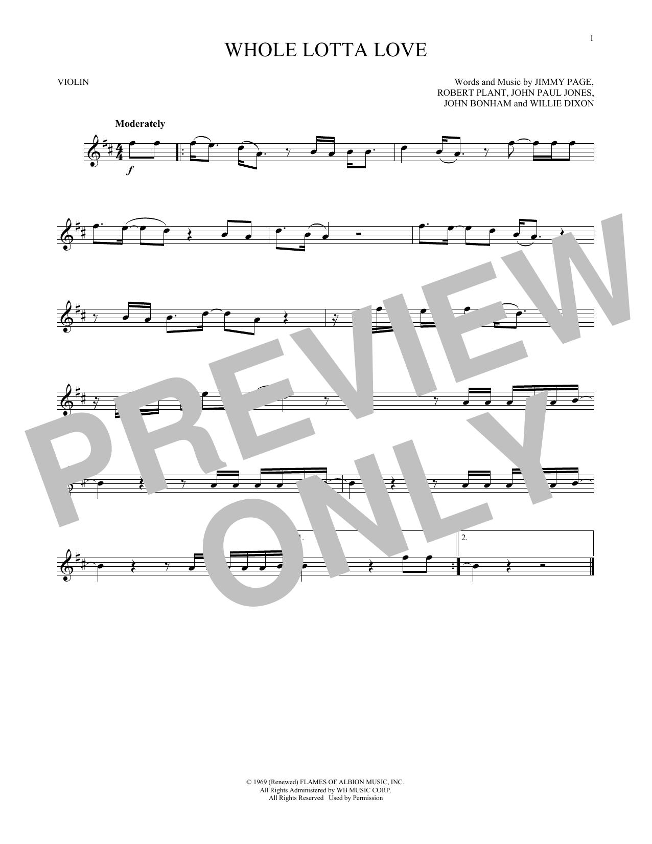 Whole Lotta Love (Violin Solo)