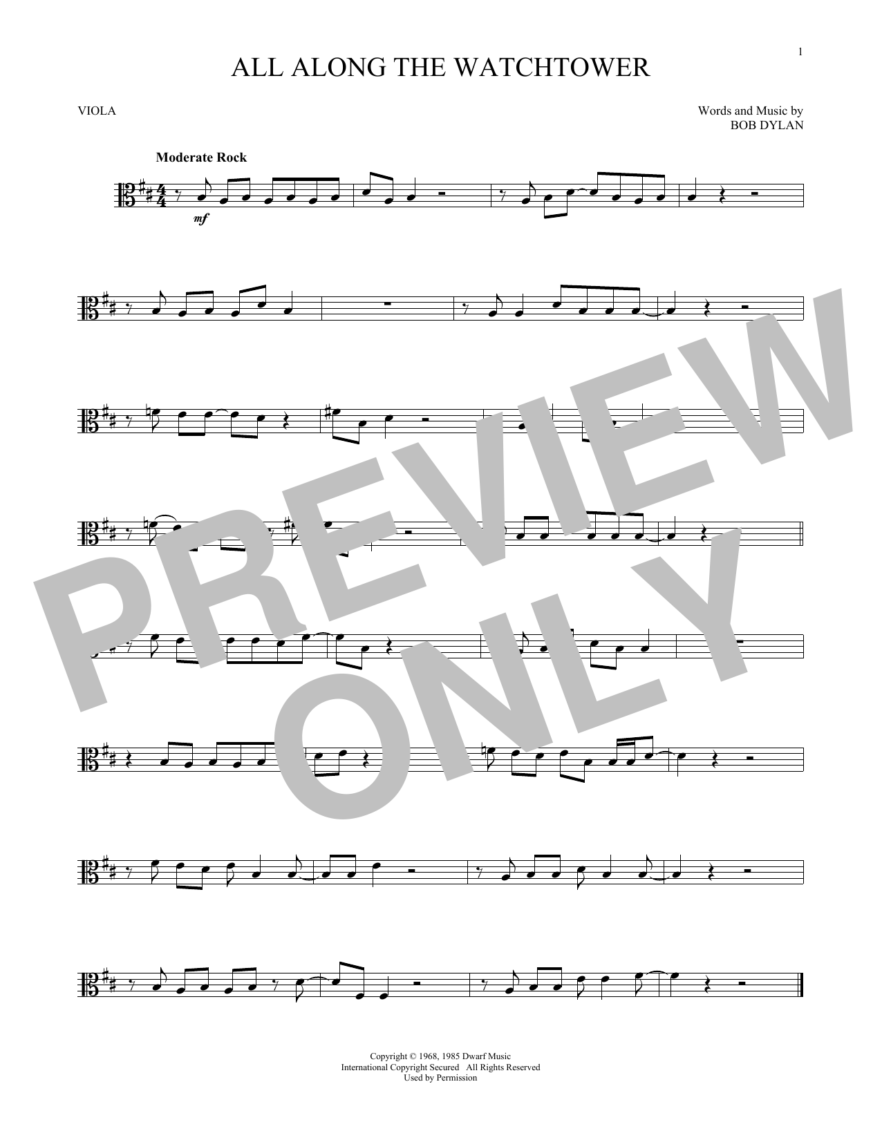 All Along The Watchtower (Viola Solo)