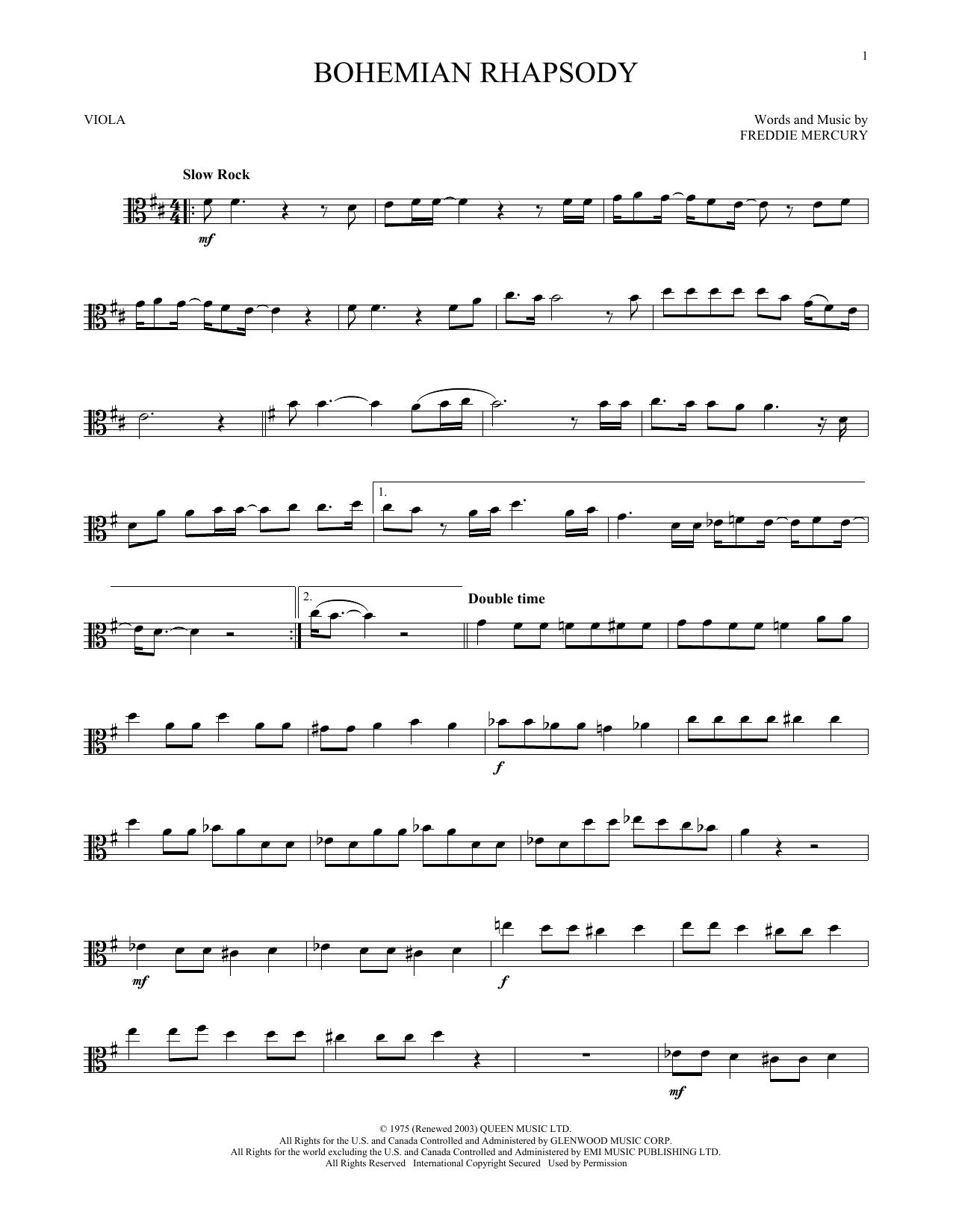 Bohemian Rhapsody (Viola Solo)
