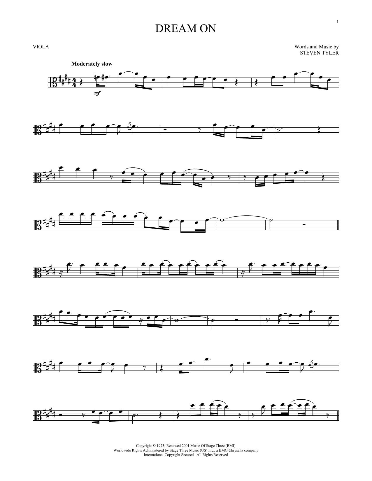 Dream On (Viola Solo)