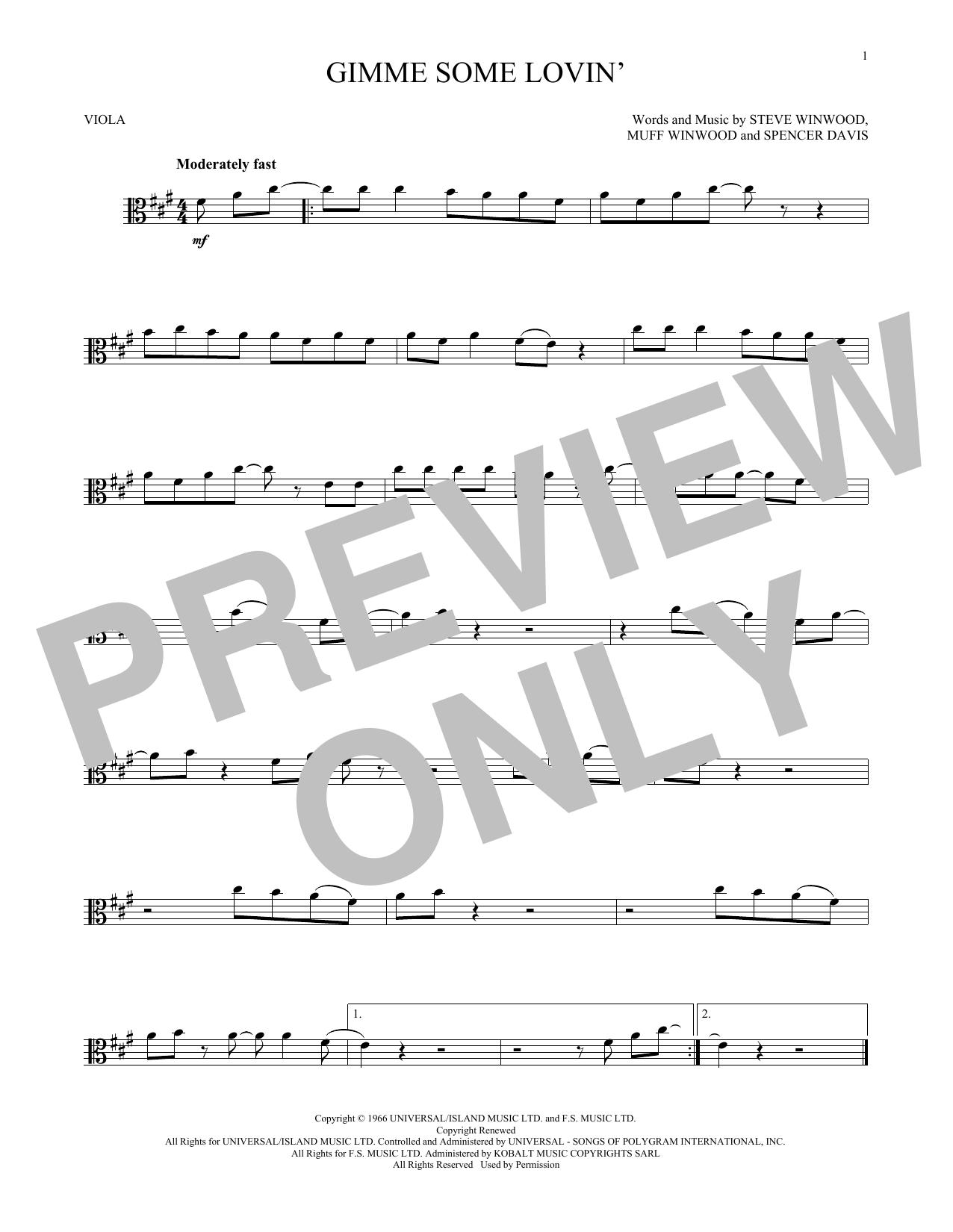 Gimme Some Lovin' (Viola Solo)