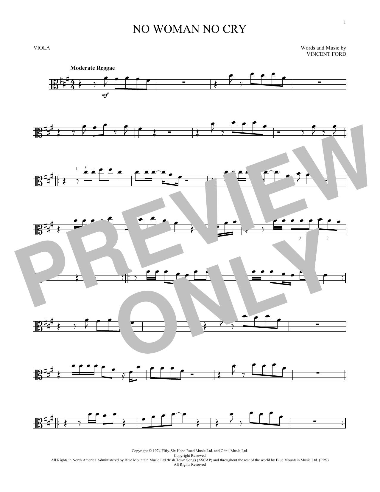 No Woman No Cry (Viola Solo)