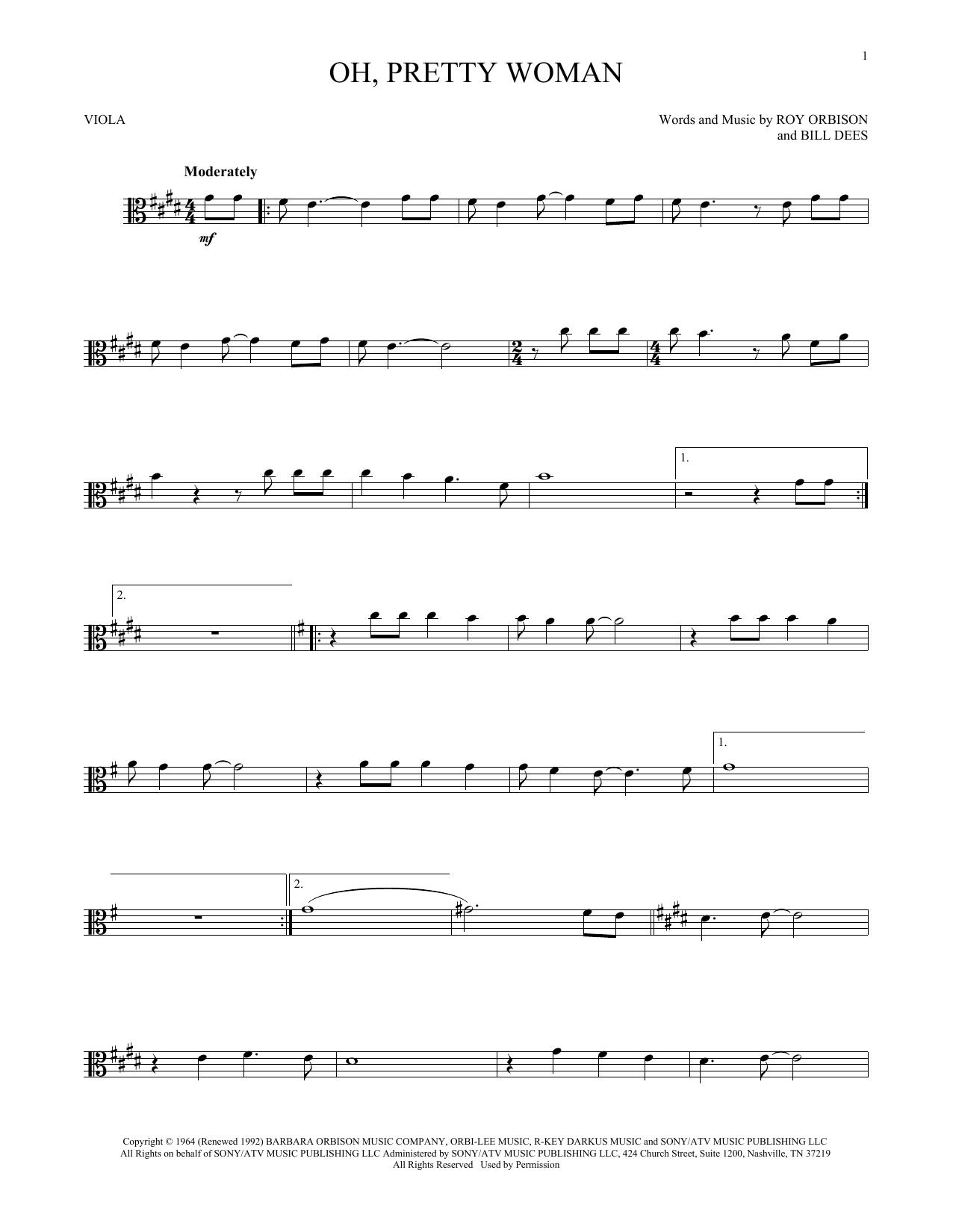 Oh, Pretty Woman (Viola Solo)