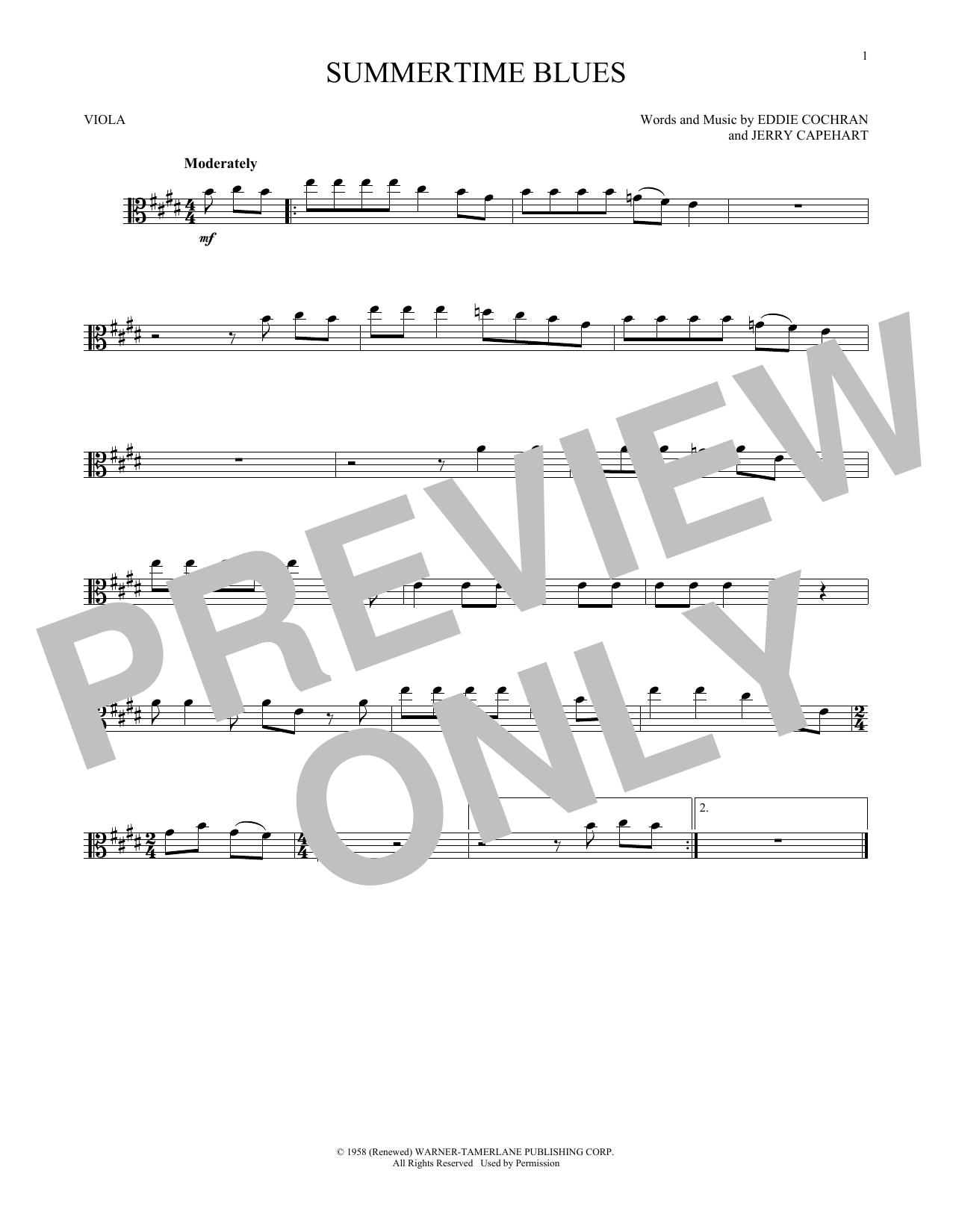 Summertime Blues (Viola Solo)
