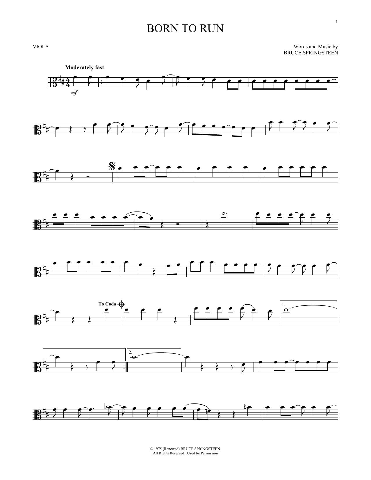 Born To Run (Viola Solo)
