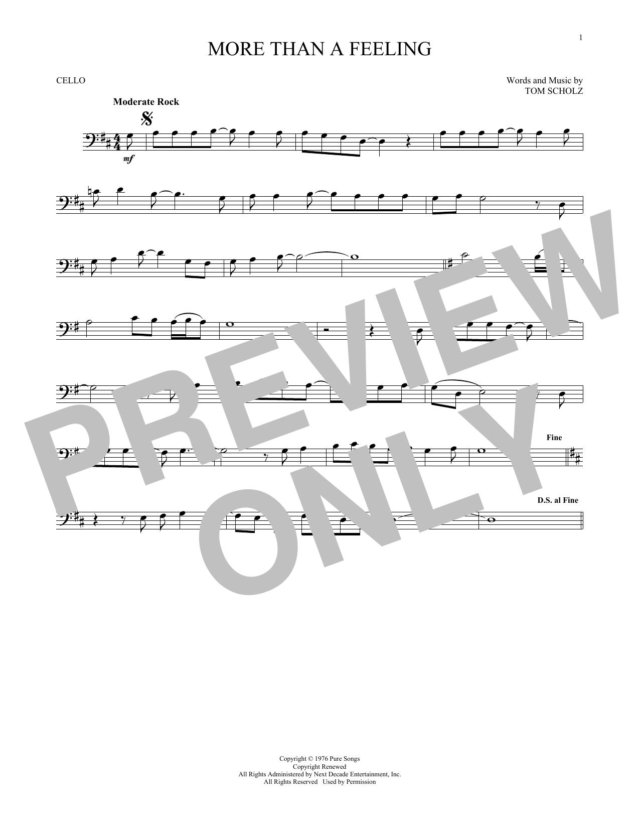 More Than A Feeling (Cello Solo)