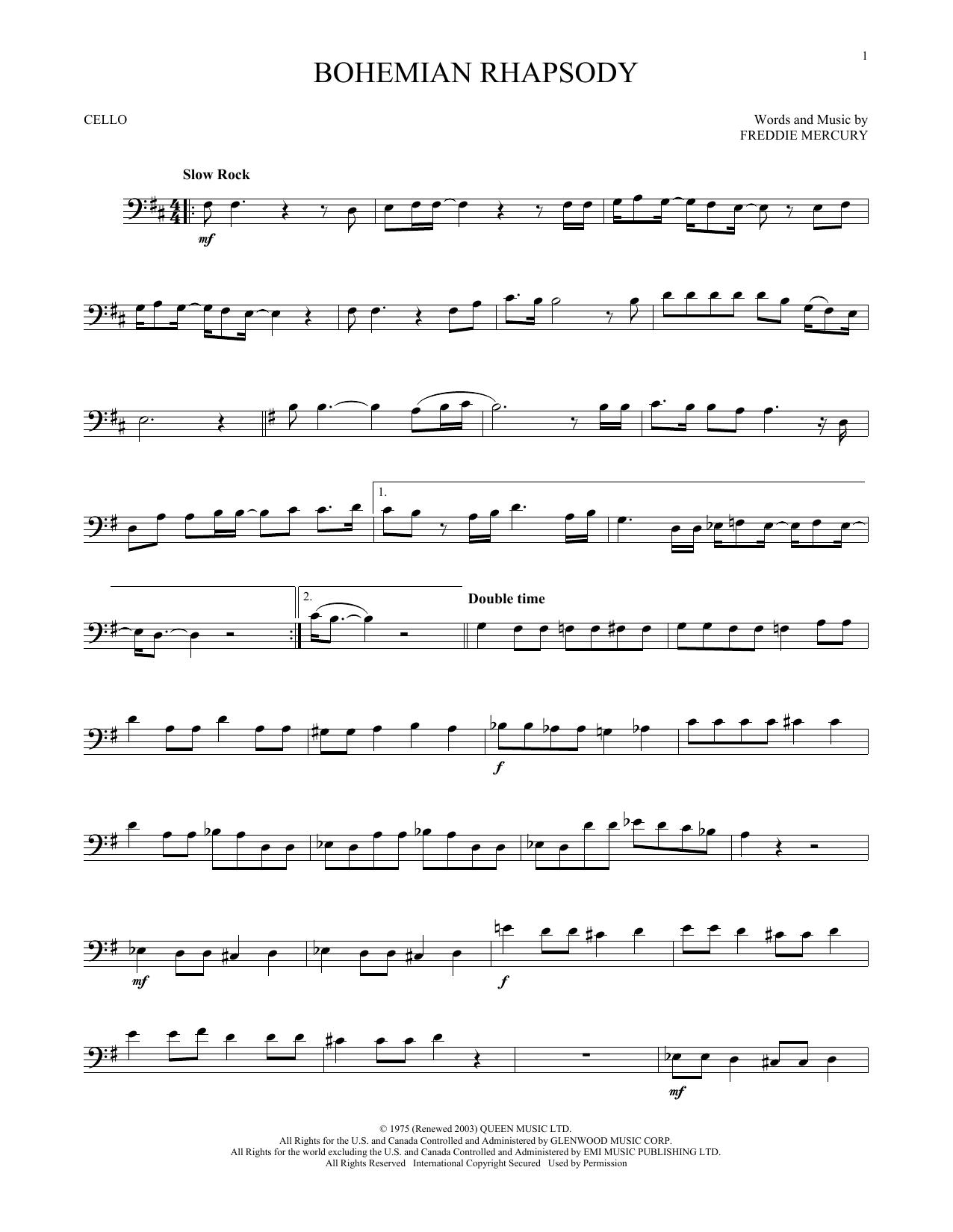 Bohemian Rhapsody (Cello Solo)