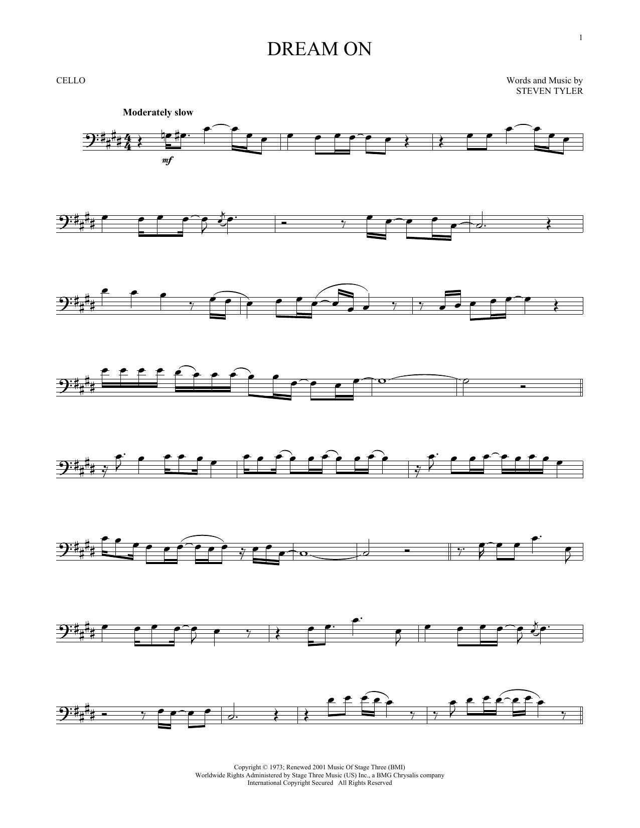 Dream On (Cello Solo)