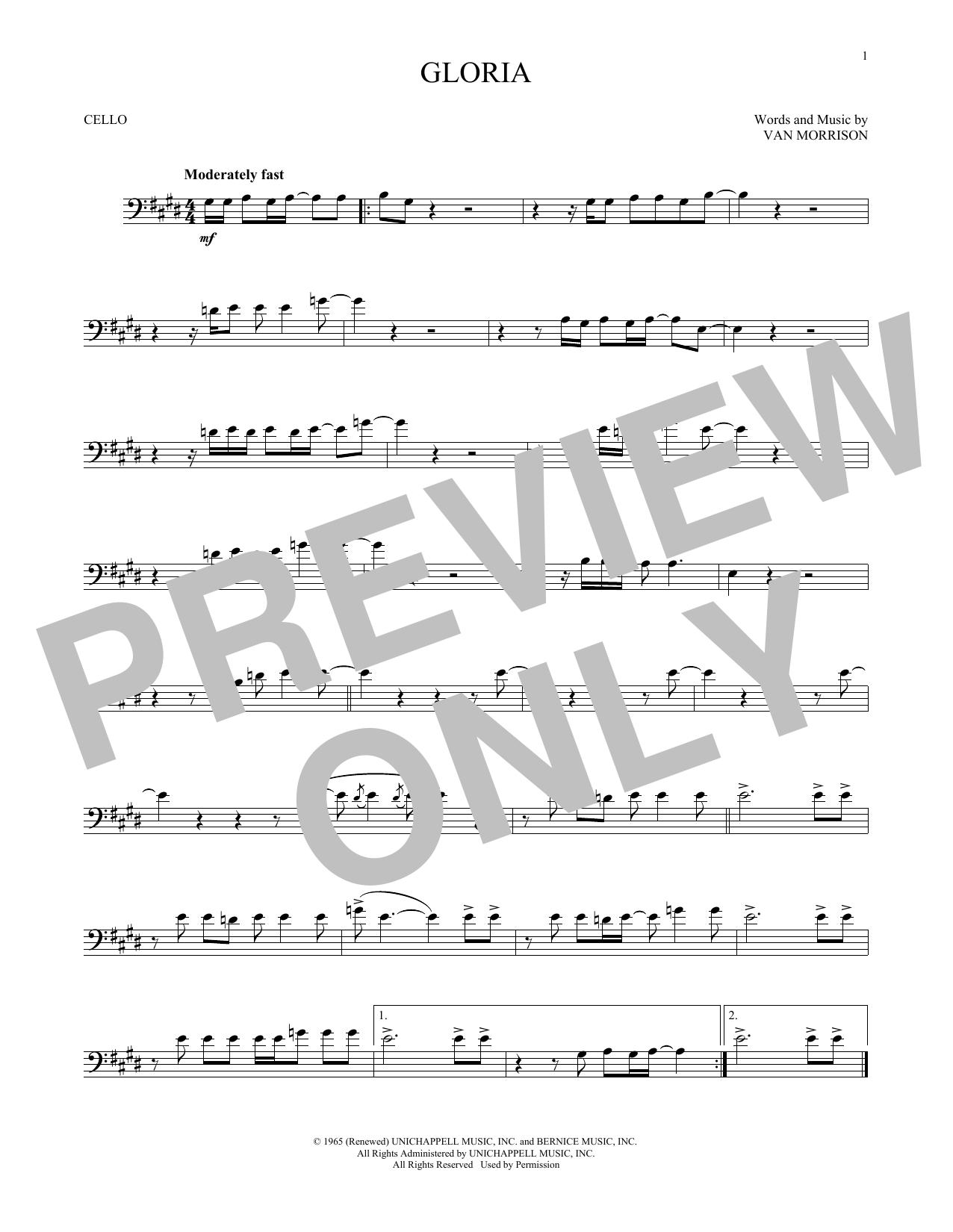 Gloria (Cello Solo)